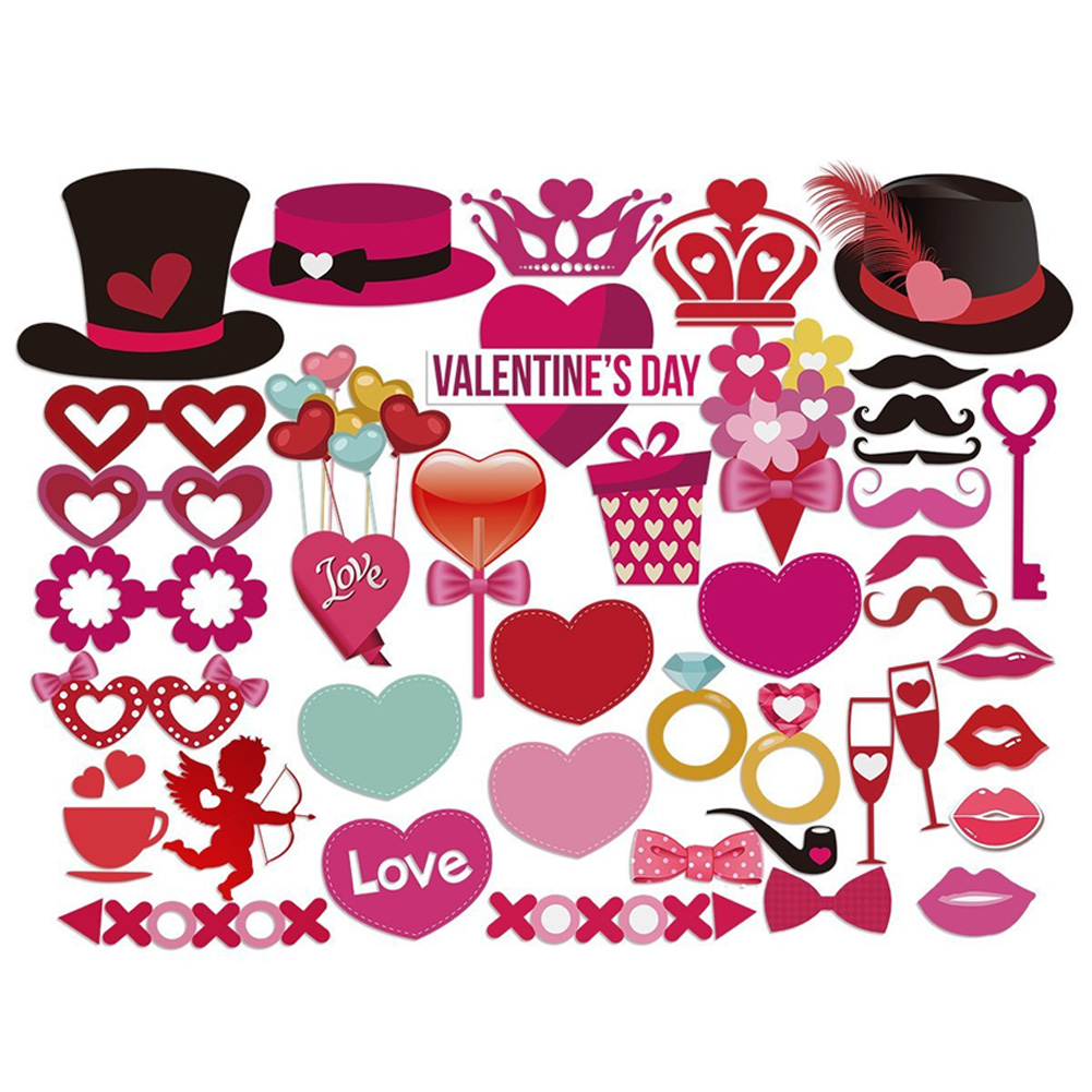 40 Pcs/Set Decoration Wedding Supplies Romantic Photo Props Party DIY Background Anniversary Valentine's Day Photography Kit(China)