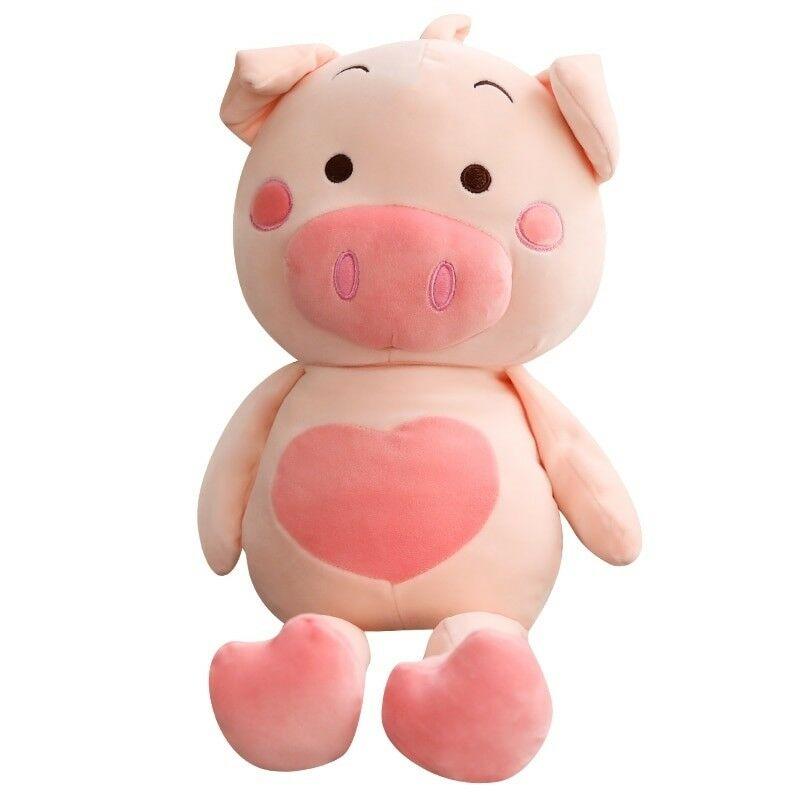 59 ''gros cochon géant en peluche jouets doux poupée animaux en peluche coussin oreiller cadeau de noël