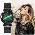 Женские наручные часы Hannah Martin  черные роскошные часы со стальным сетчатым ремешком  водонепроницаемые часы  подарочная коробка