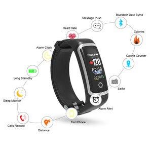 Image 5 - Longet relógio inteligente m4/t6 monitor de freqüência cardíaca monitor sono relógio de fitness pressão arterial bluetooth pulseira inteligente das mulheres dos homens esporte