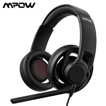 Mpow EG5 3.5mm Wired Gaming Headset Breathable Over-Ear Gaming Headphones With Mic On-Cable Controls For Computer PC Gamer Game