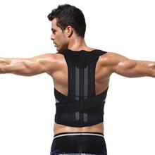Men's Back Posture Corrector Back Braces Belts Lumbar Support Belt Strap Posture Corset for Men Health Care AFT-B003