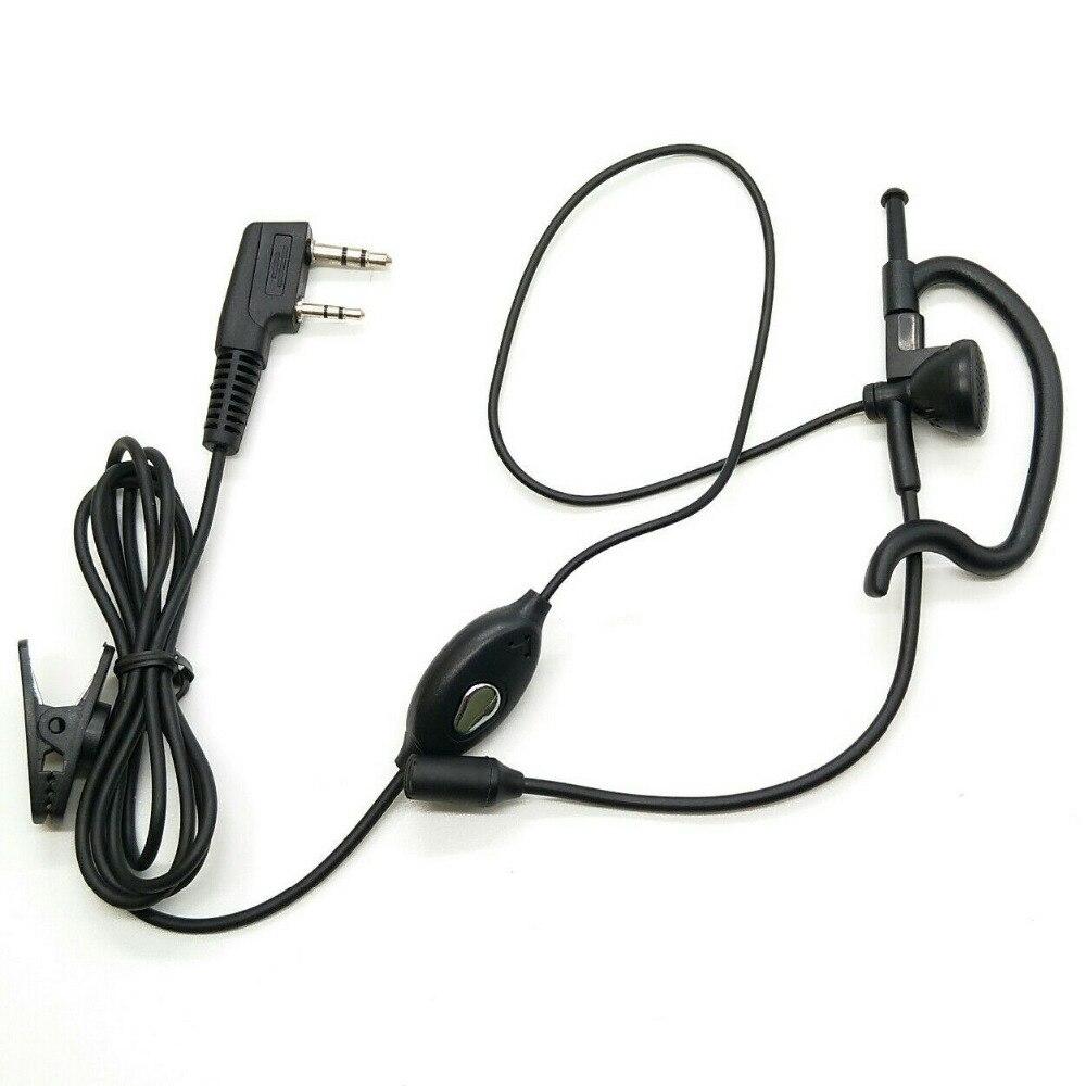 bilder für Oppxun die 2 pin ptt mikrofon headset mit mikrofon für kenwood wouxun baofeng puxing hyt tyt uv5r 888 s