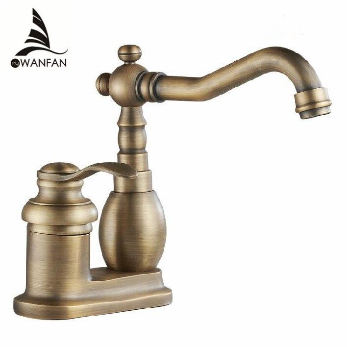 deck mounted 4 bagno rubinetteria da cucina rubinetti ottone antico monocomando rubinetti del bacino spedizione