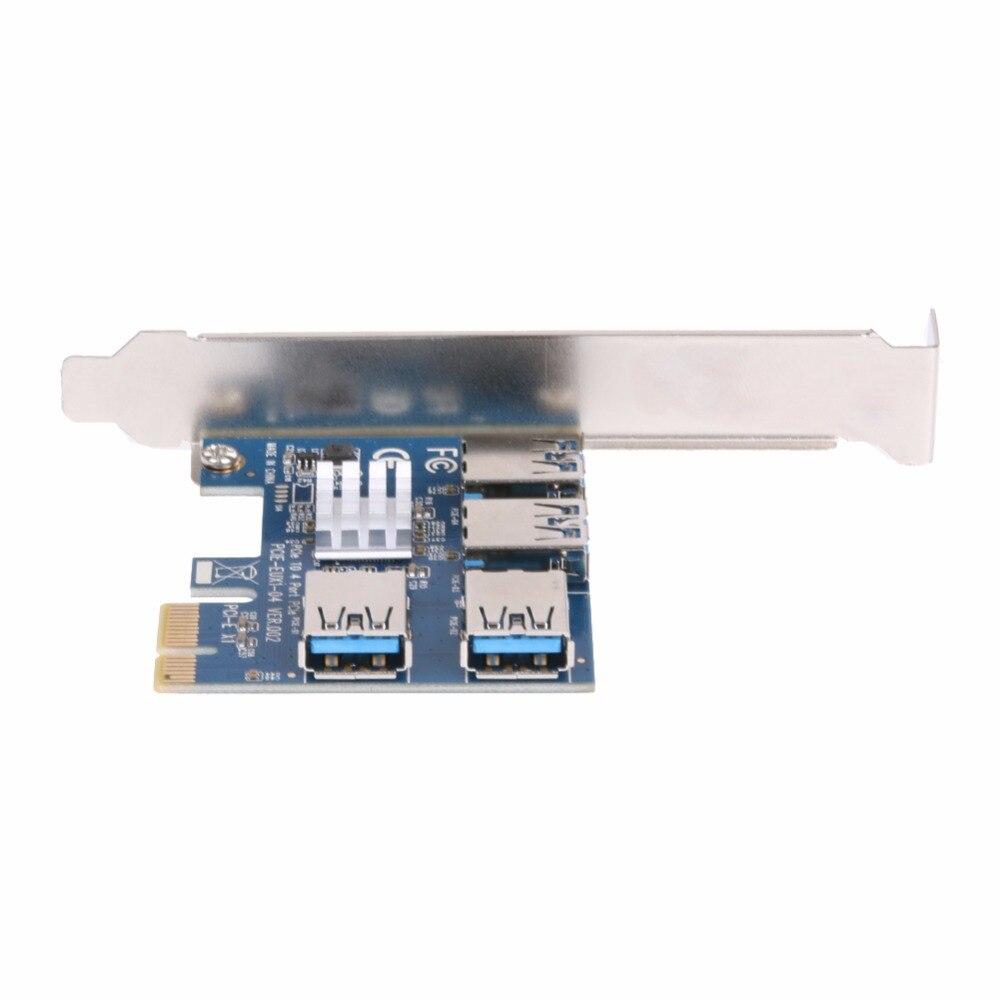 VAKIND PCIE 1 a 4 puertos USB PCI Express 1X a 16X Ranura Tarjeta de - Componentes informáticos - foto 6