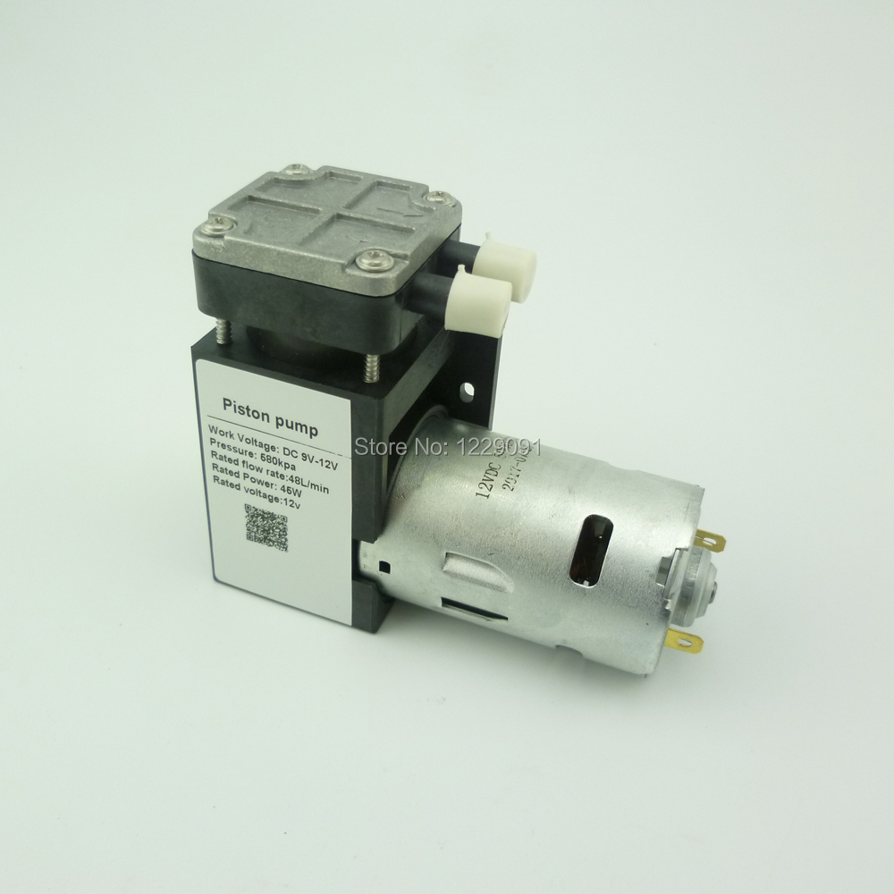 цена на DC 45W 85kpa electric mini vacuum Pump 12v 24v piston vacuum air pump
