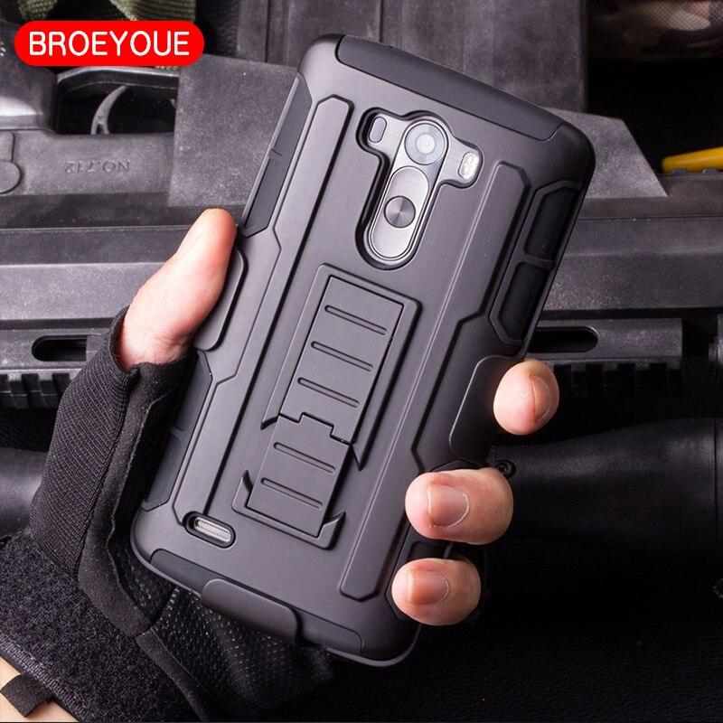 BROEYOUE Case For LG Nexus 4 5 6 5X G2 G3 G4 G5 Stylus Mini Leon V10 K7 Pro Lite Spirit C70 Case Belt Clip Holster Hard Fundas