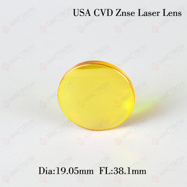 co2 Laser Focus Lens(USA CVD Znse Material, Dia 19.05MM,FL 38.1MM) cvd znse co2 laser focus lens with diameter 20mm focus length 38 1mm thickness 2mm