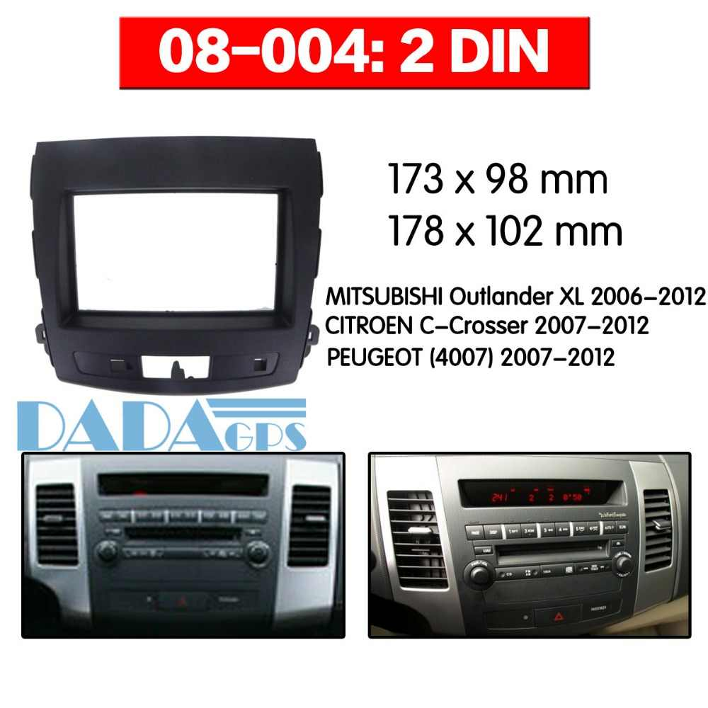 car radio fascia panel for citroen c-crosser for mitsubishi outlander xl  for peugeot stereo