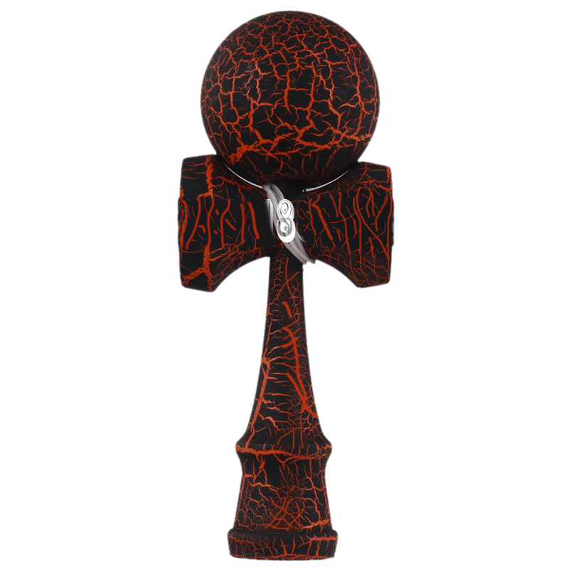 Full Crackle Wood Kendama Ball Education Traditional Game Toy New