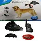 2 в 1 Перезаряжаемые 500 метрового дистанционного питомец собака тренировочный ошейник с электронный забор для собак сдерживатель для домашн...