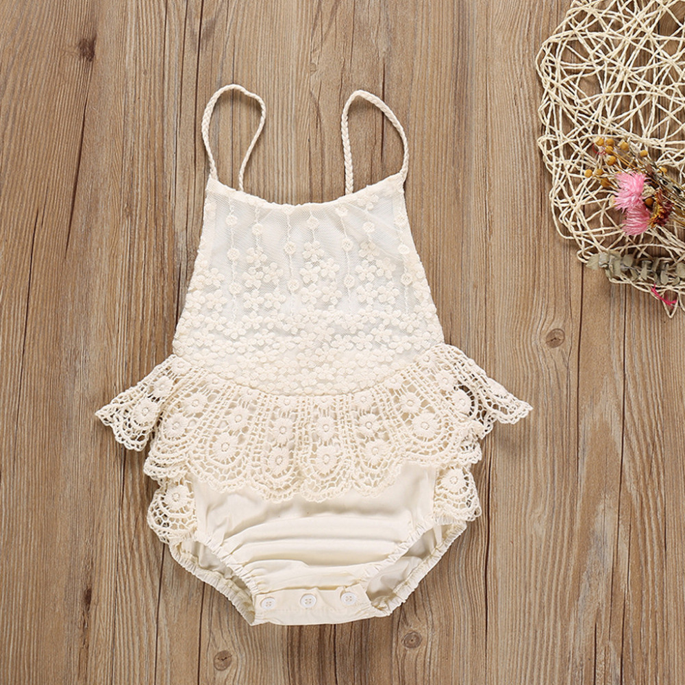 Baby Girl Clothes Lace Patchwork Ruffles   Romper   Clothes Bebek Tulum New Born Baby Clothes Baby Girl   Romper   Summer 2019 Modis