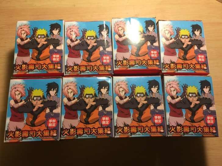 2017 novo 8 pçs/lote 6-8 CM clássico Japonês anime figura Naruto Q versão sushi ver action figure collectible modelo brinquedos brinquedos
