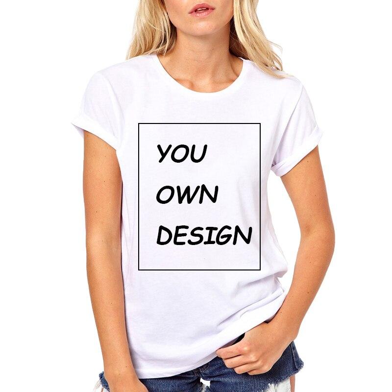 Traitement de l'image Haute Qualité Personnalisé Femmes t-shirt Imprimer Votre Propre Conception/LOGO/QR code/photo Casual t chemises