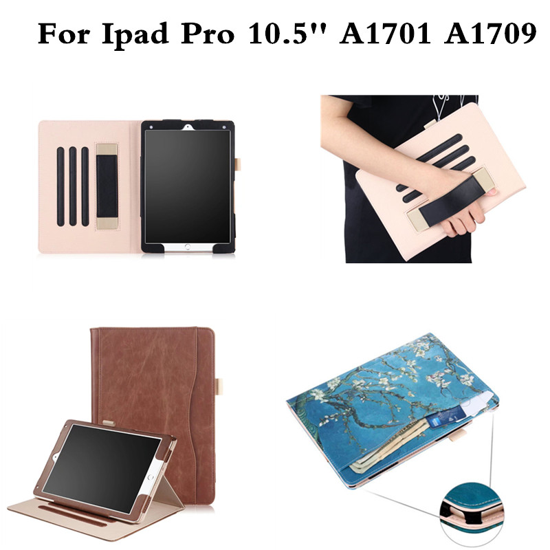 PU Leather Tablet Case Cover For iPad Pro 10.5 inch 2017 A1701 A1709 Fashion Flip Stand Smart Protective Shell Skin Funda Capa