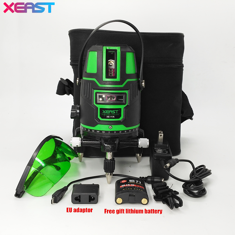 Xeast Xe 11a New 5 Line 6 Point Green Laser Level Meter