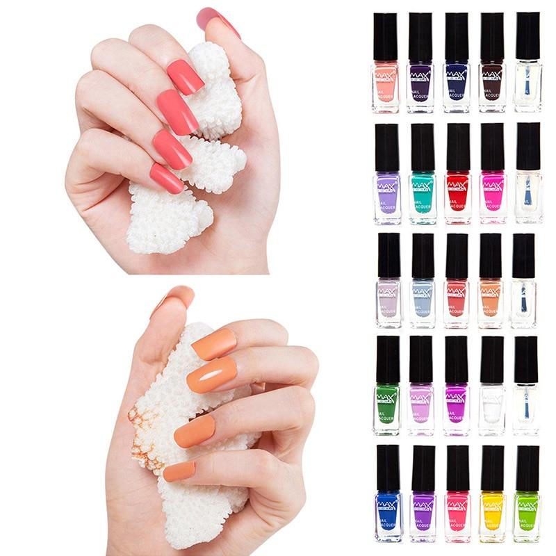 2018 New Female Nail Polish Gel Pure Color Peelable Nail Polish Nail ...