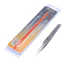 Precision Tweezers Pinzas Pinzetta Stainless Steel Pointed Tweezer Electronic Repair Tools VETUS 5A-SA