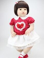 28 cal Maluch Reborn Lalki dla Dziewczyna Arianna ubierać Lalki dziewcząt Prezent z Brązowe Włosy Boże Narodzenie Prezent Lalki Baby Clothes Modelu