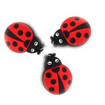 цена на Ladybug pen drive usb2.0 flash drive cartoon cute beetles memory stick real capacity usb flash drive 64g 32g 16g 8g 4g pendrive