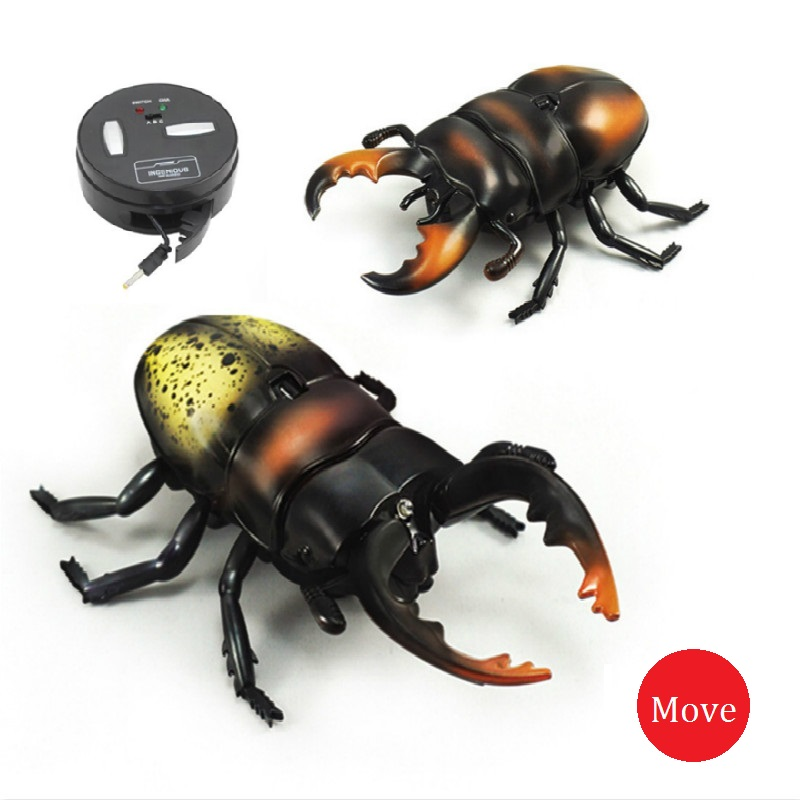 New Strange Remote Control Beetle Shovel Beetle Simulation Of Molestation Insect Infrared RC Electric Insect Toys Truely Running