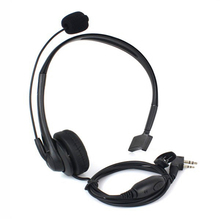 2016 radio Microphone 2pin K port earpiece ptt mic headset for handheld walkie talkie baofeng UV-5R UV-82 BF-888S Free shipping