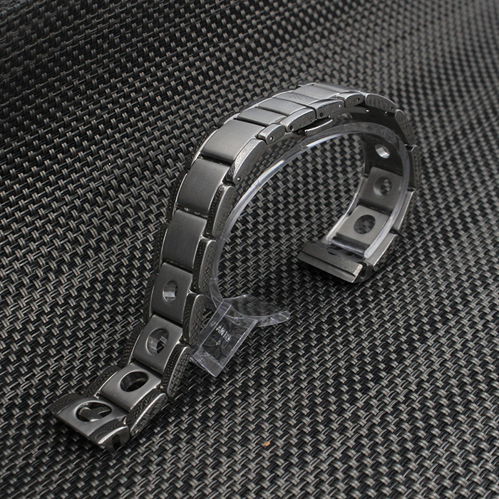 20mm Silver 316L Solid Stainless Steel Watch Band Strap Curved End Deployment Clasp Buckle Bracelet Belt