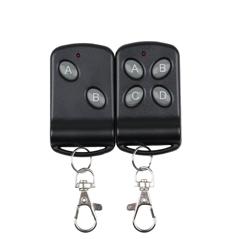 315Mhz 433MHZ Wireless RF Remote Control Transmitter 1  2 4 Button Black Color TX Big Button Remote For Light Switch