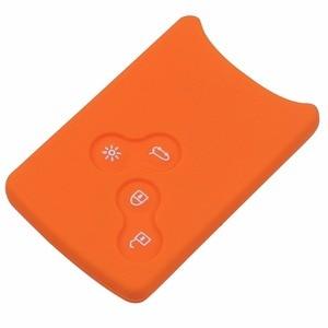 Image 5 - 4 כפתורי סיליקון גומי מפתח כיסוי מקרה מגן עבור רנו קליאו לוגן מגאן 2 3 Koleos סניק כרטיס Keychain רכב סטיילינג