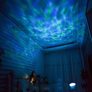Image 1 - Romantic Colorful Ocean Wave Sky Aurora Projector LED Starry Night Light Lamp With Music Player for Living Room and Bedroom