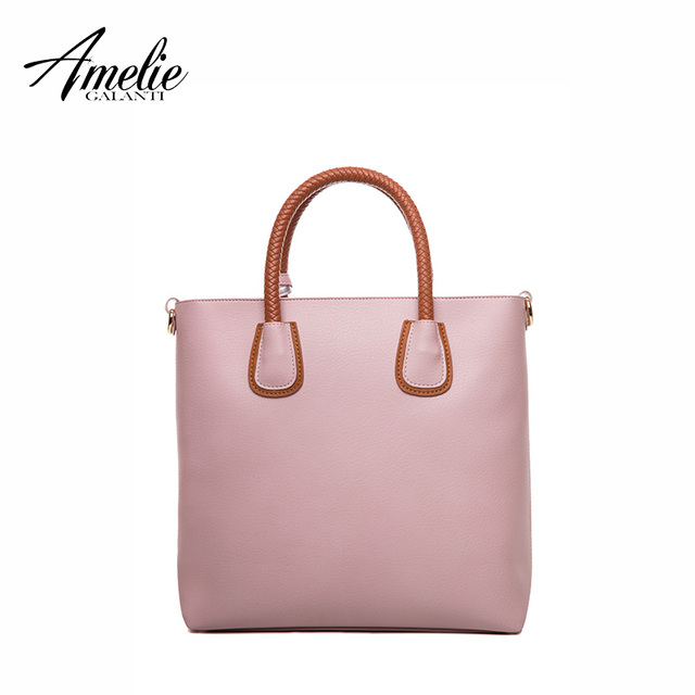 AMELIE GALANTI  Women Bags Designer Composite Casual handbag Soft Shopping Bag PU Leather 3 assemble Newest Luxury Shoulder Bags