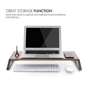 Image 2 - شاشة حامل الناهض مع قدم معدنية لطابعة عرض iMac MacBook LCD ، lapoffice منضدة منظم منصة قوية توفير مساحة