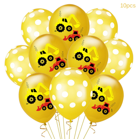 YORIWOO Cartoon Air Balloons Cars Fire Truck Balloon Confetti Baloons Children Birthday Party Decorations Kids Baby Shower Boy Multan