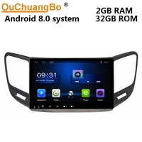Ouchuangbo android 8.0 car multimedia player radio recorder for ChangAn CS15 2016 with gps navigation Bluetooth USB 2GB+32GB