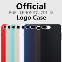 Luxury Brand Original With Logo Case For IPhone 7 Plus Silicon Phone Cover For Iphone X