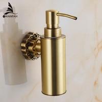 Liquid Soap Dispensers Antique Brass Wall Mounted Shampoo Soap Dispenser Liquid Soap Holder Bathroom Accessories 10704F