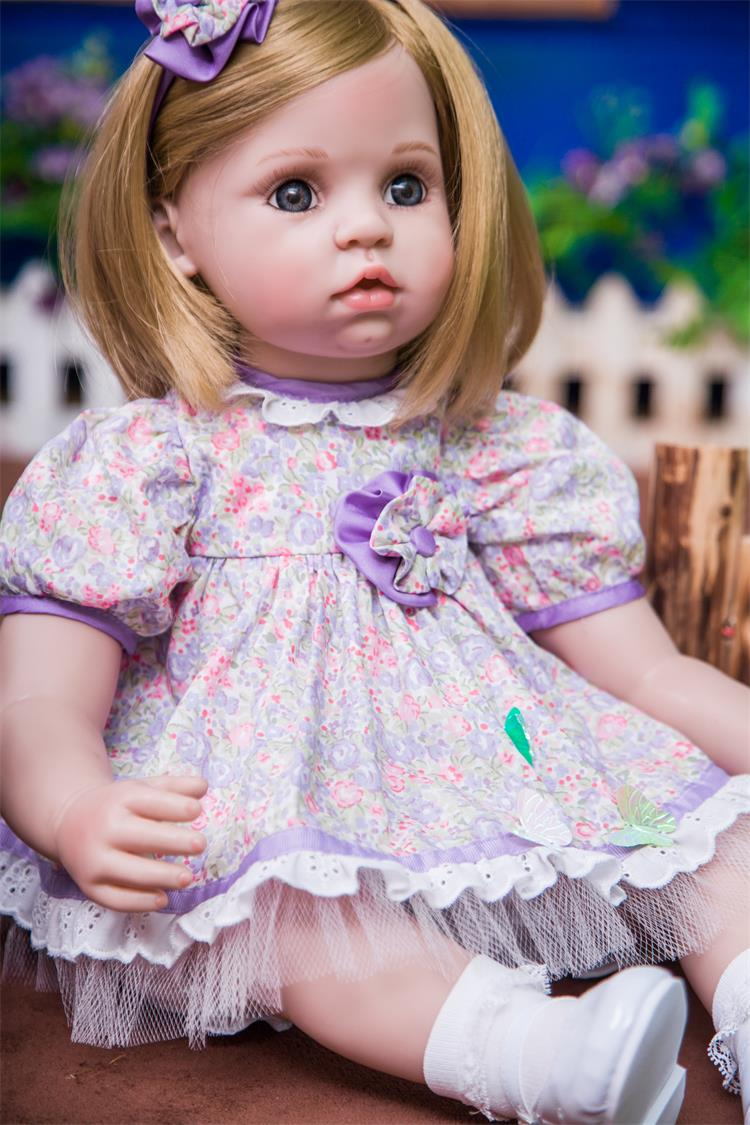 Pursue 24/60 cm Blond Hair Baby Alive Silicone Reborn Baby Toddler Dolls that Look Real Lifelike Toddler Princess Girl Doll