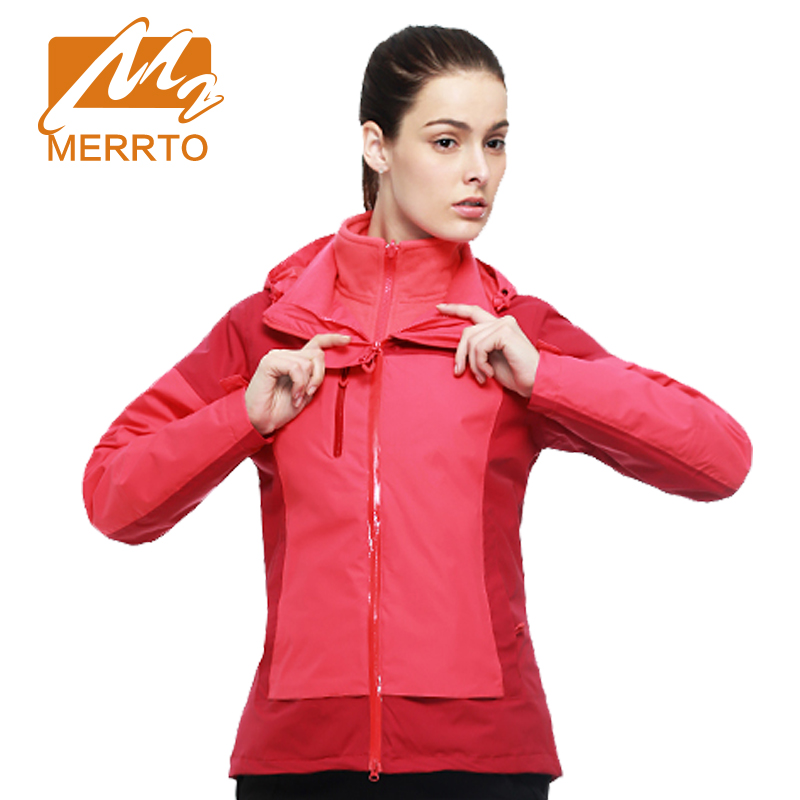 MERRTO Autumn Women Winter Outdoor Camping&Hiking Jacket  Mesh 2 pieces Hunting Escalada Jackets Windbreaker Coat #19137 yin qi shi man winter outdoor shoes hiking camping trip high top hiking boots cow leather durable female plush warm outdoor boot