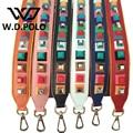 W.D.POLO Strapper you rivet handbags belts women bags strap women bag accessory bags parts split leather icon bag belts M2307