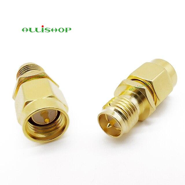 RF SMA proste pozłacane SMA wtyk męski na RP-SMA kobieta Jack koncentryczny RF Adapter konwerter dla WIFI antena GPS komórkowej