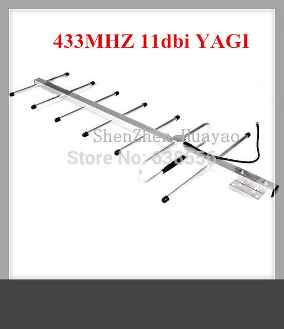 Precio de fábrica! huawei cdma Yagi 6 unidades dbi 433 MHZ antena Yagi antena exterior con 3 M cable