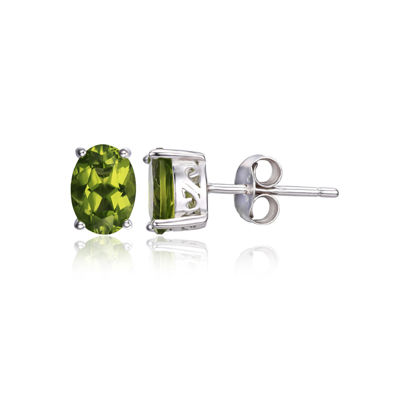 Genuine-925-Sterling-Silver-Earrings-Oval-Natural-Green-Peridot-Birthstone-Stud-Earrings-for-Women-Fine-Jewelry (3)