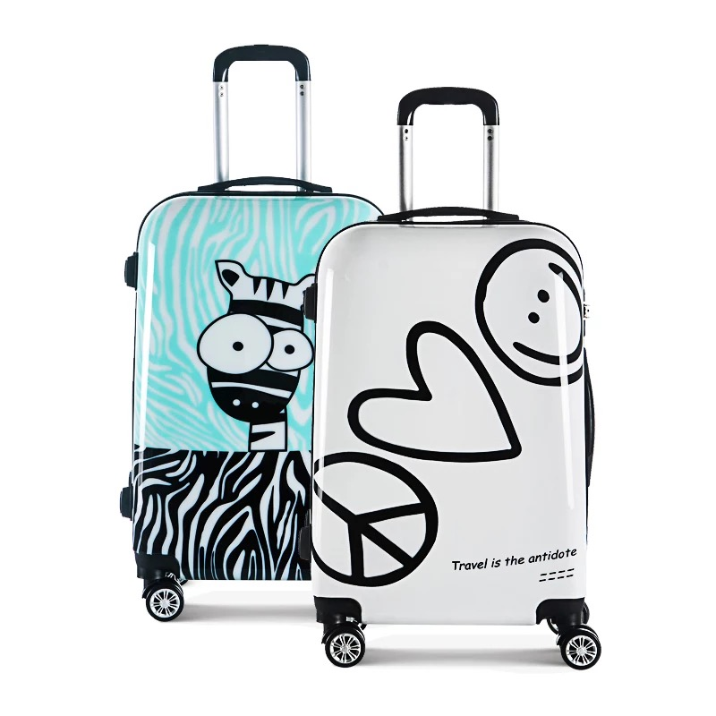 Trolley Suitcase Rolling-Luggage Spinner Wheels-Carry Travel Cartoon Women Cute Fashion