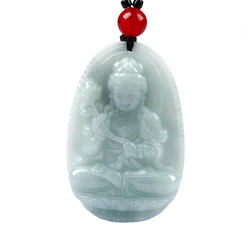 Pendentif de collier de protection pour chevaux du zodiaque bodhisattva en jadéite naturelle. Envoyer un certificat