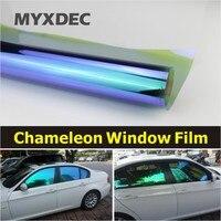 50x300cm Car Window Chameleon Tint Tint Film Glass VLT 75 Auto House Solar UV Protection Summer