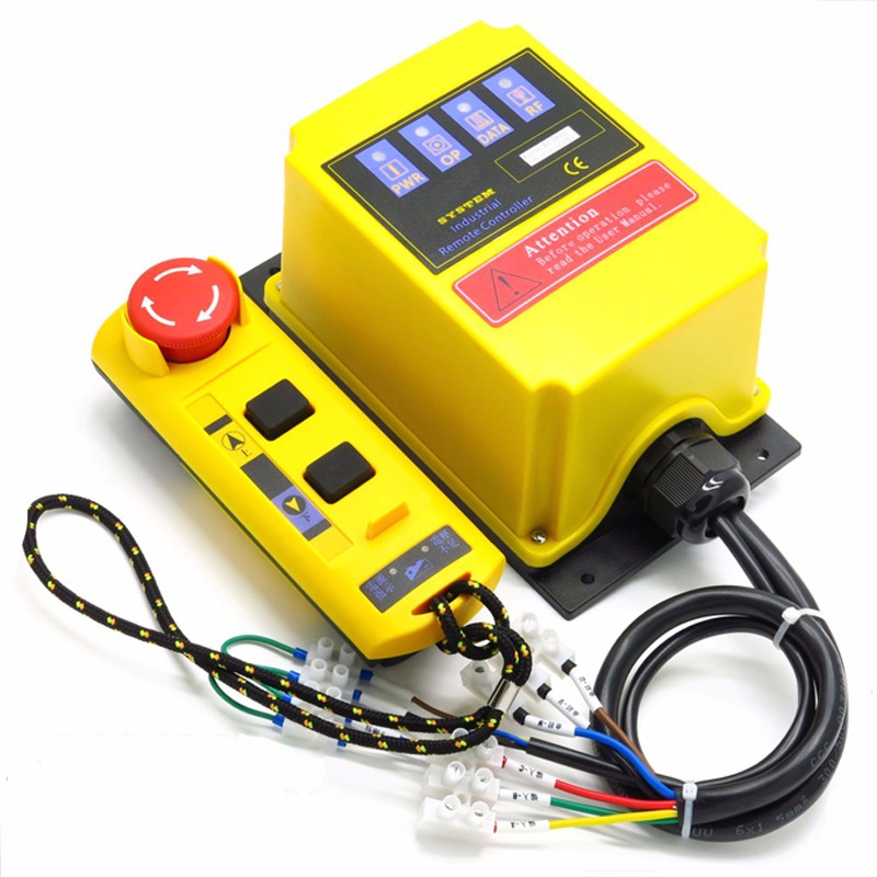 AC 220V Industrial remote controller switches Hoist Crane Control Lift Crane 1 transmitter + 1 receiver switch switches