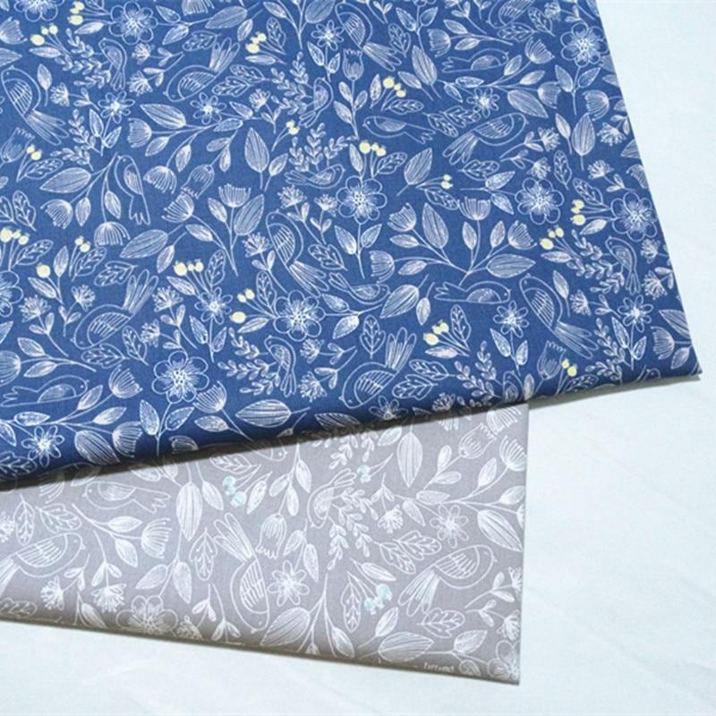 half meter spring flower bird print 100% cotton twill fabric infant bedding cloth children bed sheet bed sack tissue A542