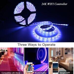 Image 5 - WIFI RGB LED RGBW Controller IR รีโมทคอนโทรลแบตเตอรี่สำหรับ DC 12V RGB 2835 5050 LED Strip โมดูลไฟ LED light