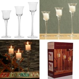 Image 3 - 3 szt. Zestaw świeczniki dekoracje ślubne producent świecznik świecznik na herbatę światło strona główna Bar strona dekoracji