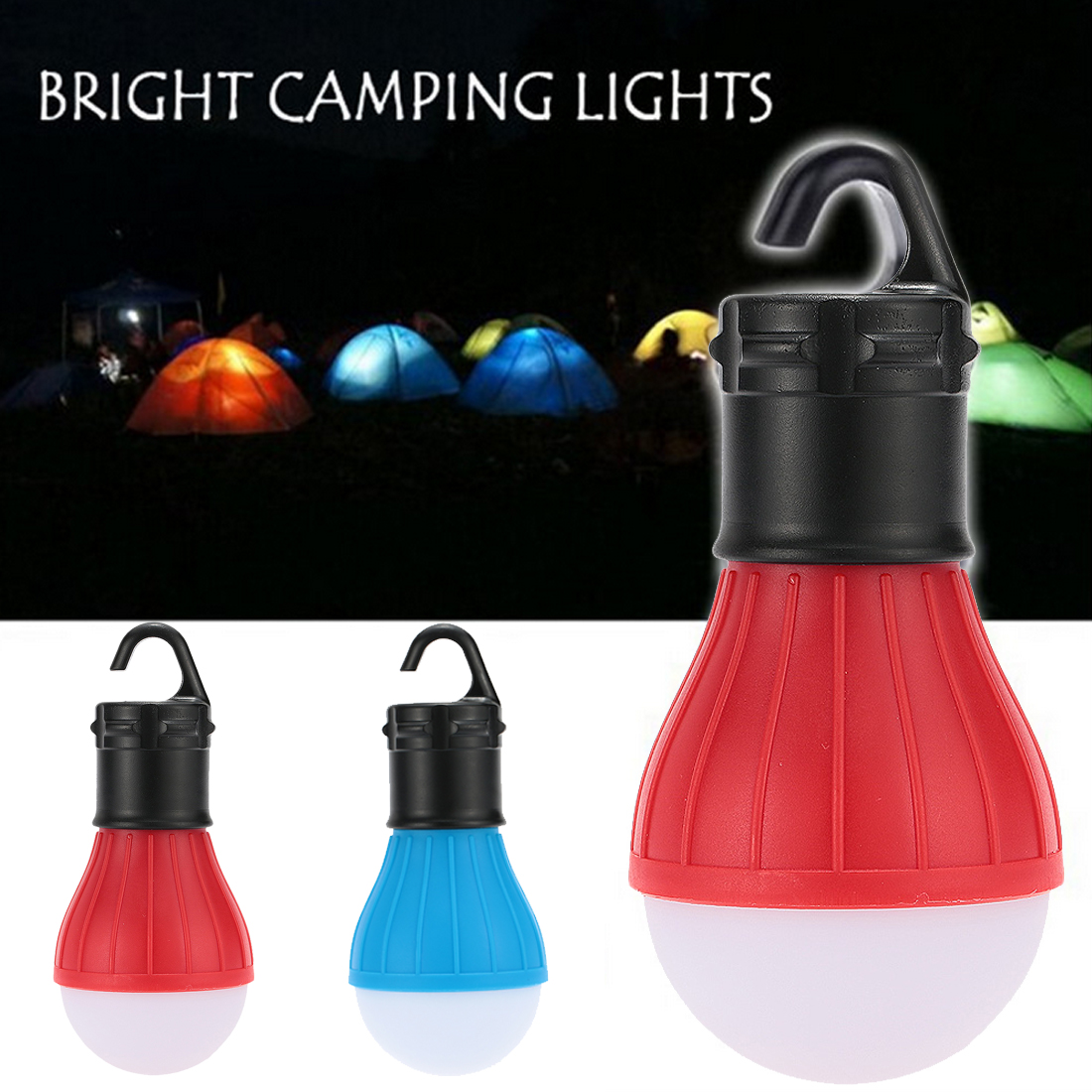 Tent Lamp LED Bulb Waterproof Portable Flashlights Emergency Night Light Camping Lantern For Camping Hiking Outdoor AAA Battery